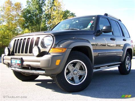 jeep renegade dark blue 2005 dark khaki pearl jeep liberty renegade 4x4 18994820