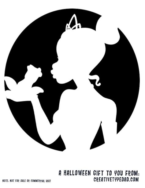 princess   frog pumpkin stencil siluetas ninos