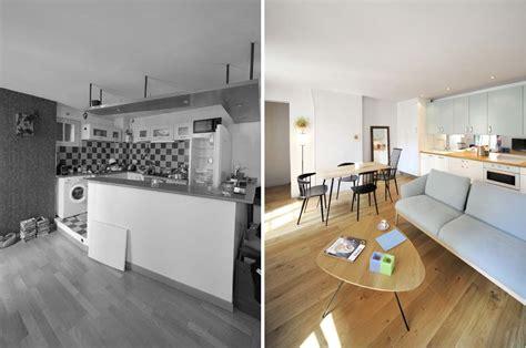 studio cuisine nantes avant aprés réorganisation d 39 un appartement 2 pièces