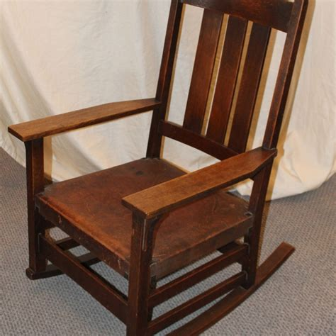 Stickley Upholstered Rocking Chair by Bargain S Antiques 187 Archive Gustav Stickley Oak