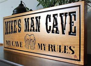 Man, Cave, Signs