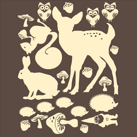 Woodland creatures Animal silhouette Woodland animals