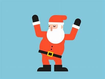Santa Dancing Happy Merry Decorations Xmas Marta