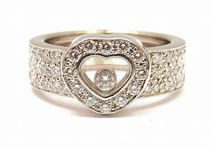 white gold chopard wedding ring with heart shaped design With chopard wedding rings