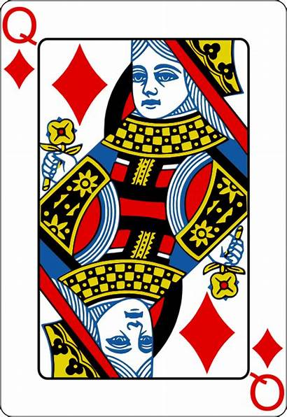 Queen Playing Cards Svg Vector Poker Diamonds