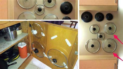adhesif pour porte de placard cuisine 5 façons de ranger ses couvercles de casserole