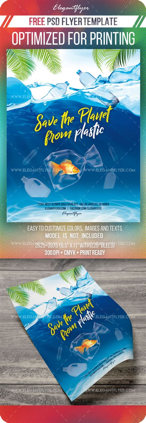 save  planet  plastic  flyer template  psd