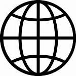 Globe Svg Icon Line Vector Earth Symbol
