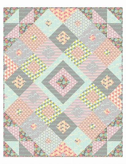 Quilt Jewels Tumbling Pattern Fabrics Camelot Theclothparcel