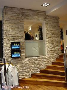 Steinwände Für Innen : moderne steinwand f r ihr wohnzimmer schlafzimmer neu mit ~ Michelbontemps.com Haus und Dekorationen