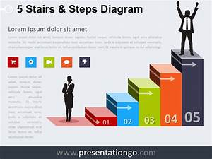 5 Stairs And Steps Powerpoint Diagram