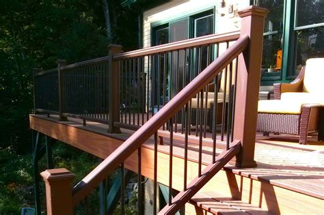 Small Stair Railing by How To Build Deck Stair Railing Tcworks Org