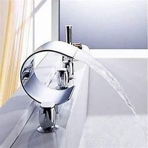 Robinet Cascade Baignoire : mitigeur robinet luxe cascade baignoire baignoire achat vente robinetterie sdb mitigeur ~ Nature-et-papiers.com Idées de Décoration