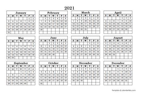 blank yearly calendar landscape  printable