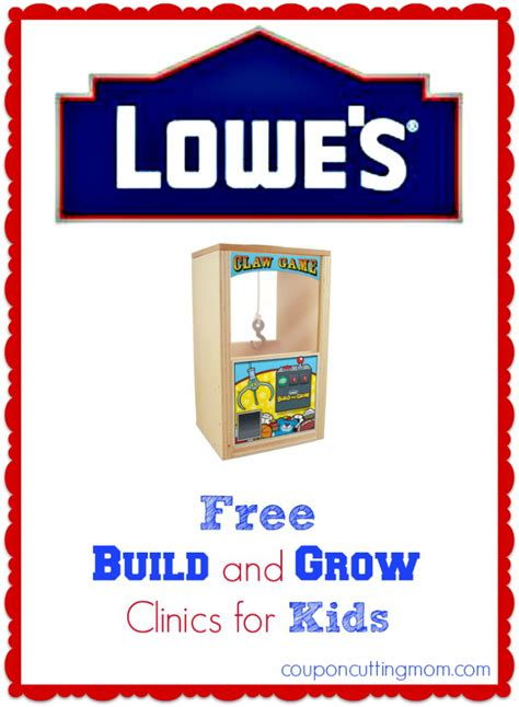 lowes workshop free kids lowe s workshop build your own claw game feb 22