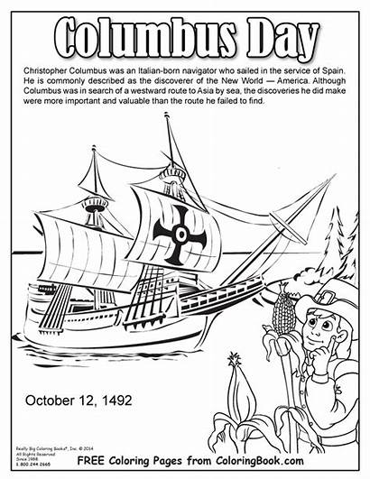 Columbus Coloring Pages Christopher Printable Sheets Books