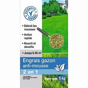 Engrais Desherbant Anti Mousse Gazon : engrais gazon anti mousse florendi 5 kg de engrais ~ Dailycaller-alerts.com Idées de Décoration