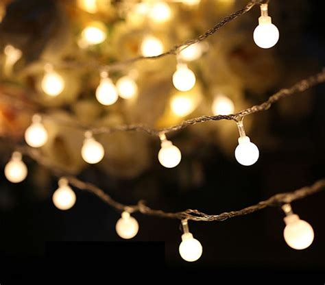 best outdoor battery or solar christmas garland lights luminaria 50 led cherry balls string decorative lights battery operated wedding