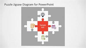 Free Flat Puzzle Jigsaw PowerPoint Diagram - SlideModel