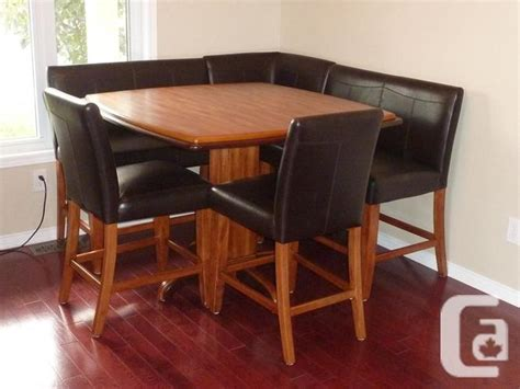 corner dining room table including chairs  sale