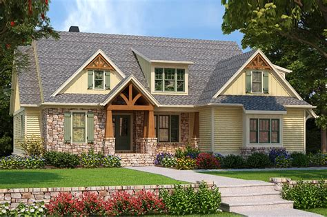 Craftsman Style House Plan 4 Beds 3 5 Baths 2601 Sq/Ft