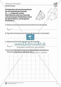 Volumen Einer Pyramide Berechnen : nett volumen einer pyramide arbeitsblatt ideen super ~ Themetempest.com Abrechnung