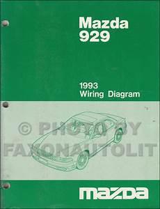 1993 Mazda 929 Wiring Diagram Manual Original