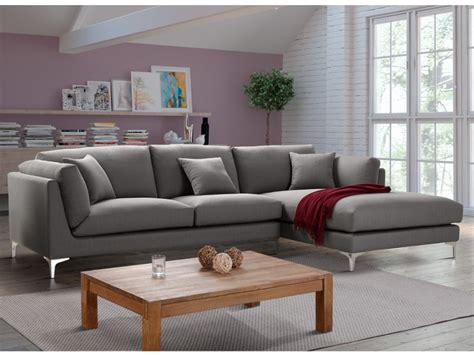 canapé d angle gris tissu canapé d 39 angle en tissu coloris gris flake