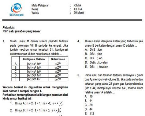 Kunci jawaban soal un/us sd/mi mata pelajaran ipa 21. Kimia - Cari Soal