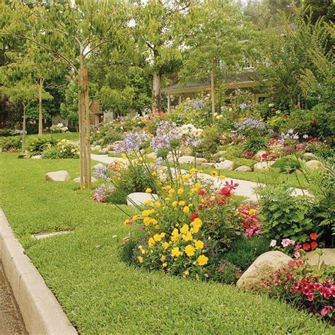 sidewalk landscaping ideas pictures curves add so much to a landscape especially in boulevard flower beds see more sidewalk garden
