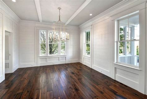 White Painted Shiplap by White Shiplap Dining Room Walls Painted In Sherwin