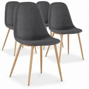 Lot 4 Chaises Scandinaves : chaise scandinave tissu gris glas lot de 4 ~ Teatrodelosmanantiales.com Idées de Décoration
