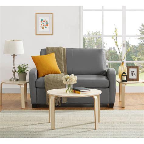 Mainstays Sofa Sleeper Brown by Mainstays Sofa Sleeper Brown Faux Leather Centerfieldbar