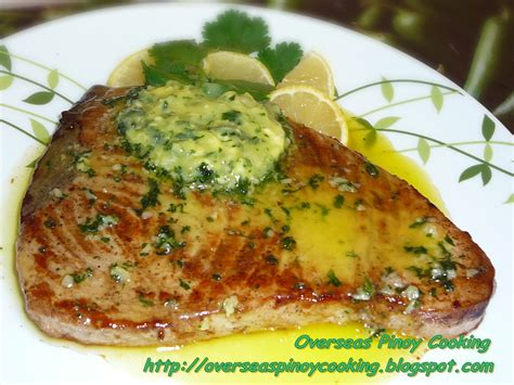 tuna steak recipes timorese grilled tuna steaks with garlic and butter recipe dishmaps
