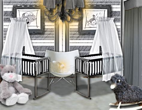 chambre jumeaux idée déco une chambre de bébé douce et chic pour des