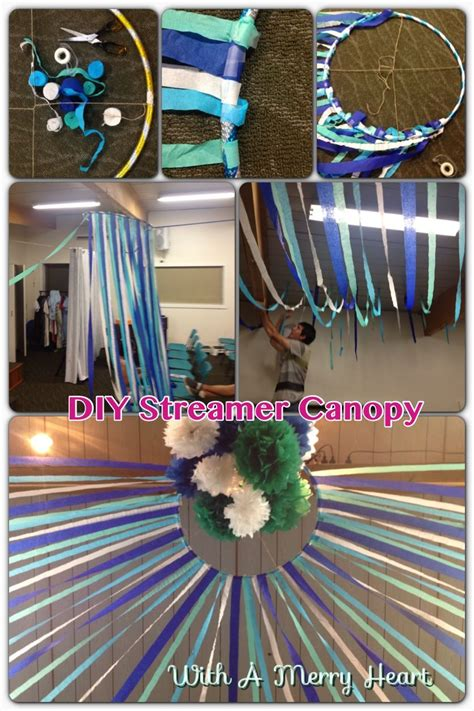 Decorating Ideas With Streamers by Diy Streamer Canopy Need Hula Hoop Sticky Twine