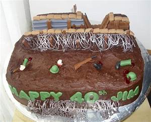 World War One Trench Birthday Cake - CakeCentral com