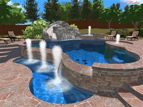 a picture of a pool 3d pool designs king pools inc