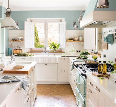 cocinas blancas  nunca pasan de moda