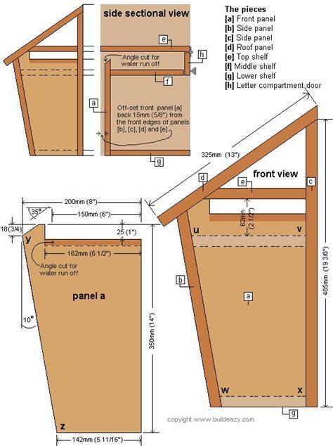build  mailbox  mailbox plans   build