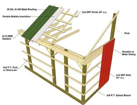 post frame pole barn construction barn framing