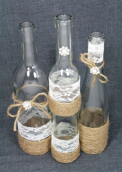 Decorative Wine Bottles For Wedding by 25 Best Ideas About Twine Wrapped Bottles On