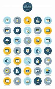 Free Icons  35 Useful Flat Marketing And Seo Services Icons