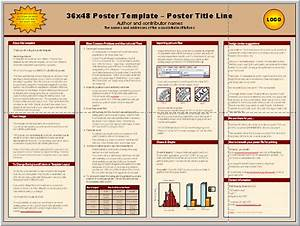 posters4research free powerpoint scientific poster templates With how to make a poster template in powerpoint
