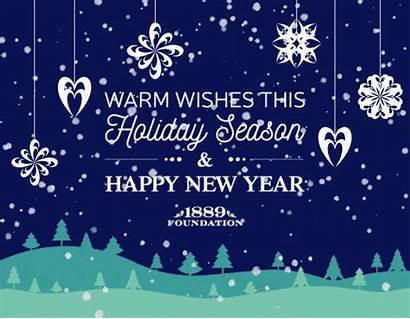 Holiday Wishes Warm Season 1889 Greeting Wonderful