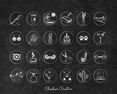 Instructions for updating your cover buttons. Instagram Story Highlight Icon Covers | Chalkboard Style | Ready to Use | Bloggers, Lifestyle ...