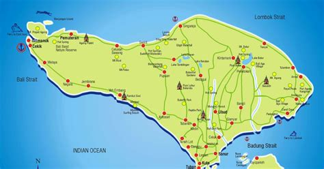 comprehensive bali tourist map   guidance bali