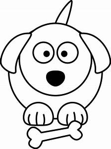 Black And White Dog Cartoon - Cliparts.co