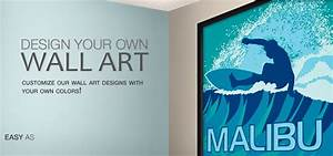 Make your own wall art design your own giclee prints and for Kitchen cabinets lowes with make your own wall art canvas