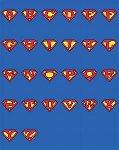 1superman alphabet by maxhalsackda on deviantart With superman alphabet template